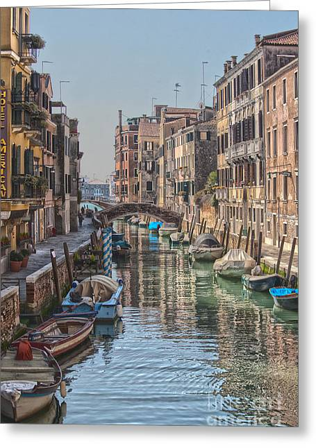 History Channel Digital Art Greeting Cards - Beautiful Venice Greeting Card by Patricia Hofmeester