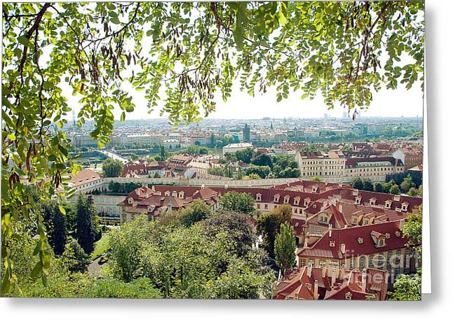 Green Foliage Greeting Cards - Beautiful view of Prague Greeting Card by Ivy Ho