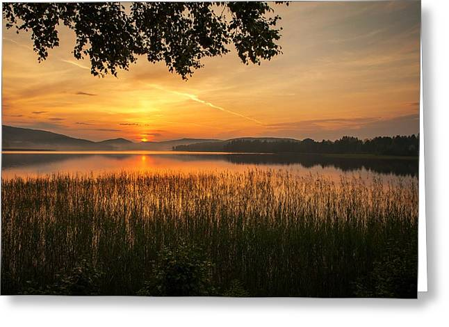 Sunset In Norway Greeting Cards - Beautiful View  Greeting Card by Rose-Maries Pictures