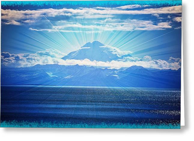 Beautiful Volcano Greeting Card by Debra  Miller