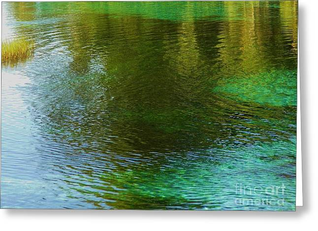 Abstract Movement Greeting Cards - Beautiful Water Greeting Card by D Hackett