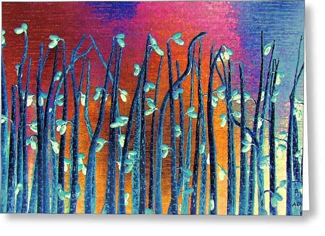 Buyart Greeting Cards - Beautiful Weeds on Venus Greeting Card by Alec Drake