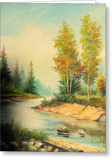 Landscape Posters Greeting Cards - Beautiful wild  Greeting Card by Sorin Apostolescu