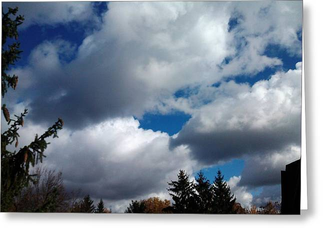 Cloudy Pastels Greeting Cards - Beautiful Winter Sky Greeting Card by Jo-Ann Hayden