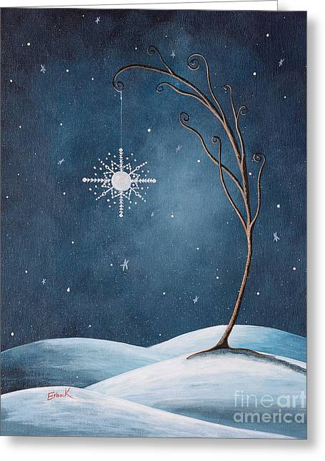 Snow-covered Landscape Greeting Cards - Beautiful Winterland by Shawna Erback Greeting Card by Shawna Erback