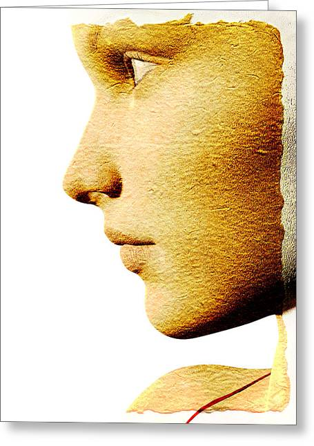 Chin Greeting Cards - Beautiful Woman Greeting Card by David Ridley