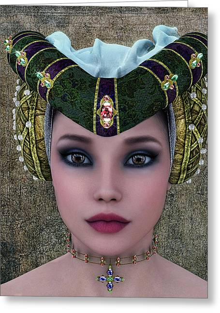 Mulher Greeting Cards - Beautiful Woman Greeting Card by Ramon Martinez