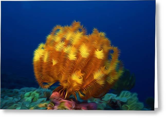 Granulatus Greeting Cards - Beautiful yellow coral 3 Greeting Card by Lanjee Chee