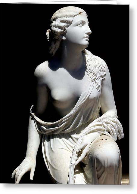 Nude Woman Torso Sculpture Greeting Cards - Beautiful Young Woman Greeting Card by Jeff Lowe