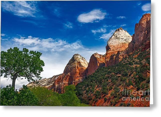 Navajo Basin Greeting Cards - Beautiful Zion Greeting Card by Robert Bales
