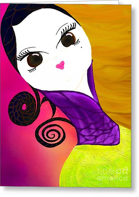 Beauty 1.0 Greeting Card by Anita Lewis