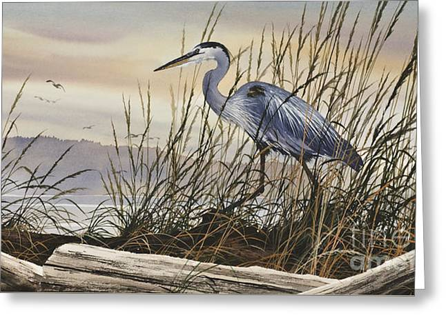 Artist James Williamson Maritime Print Greeting Cards - Beauty Along the Shore Greeting Card by James Williamson