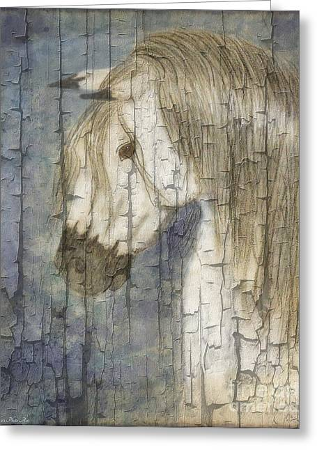 Blank Greeting Cards Mixed Media Greeting Cards - Beauty and Strength Crackle Greeting Card by Debbie Portwood