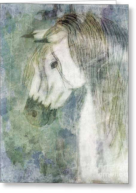 Blank Greeting Cards Mixed Media Greeting Cards - Beauty and Strength Watercolor Wash Greeting Card by Debbie Portwood