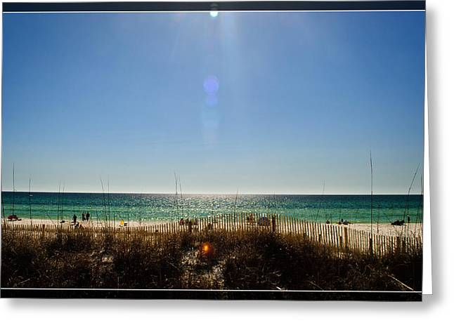 Panama City Beach Fl Greeting Cards - Beauty and the Beach Greeting Card by George Taylor