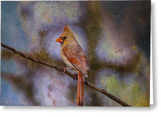 Wildlife Digital Art Greeting Cards - Beauty And The Beak Greeting Card by J Larry Walker