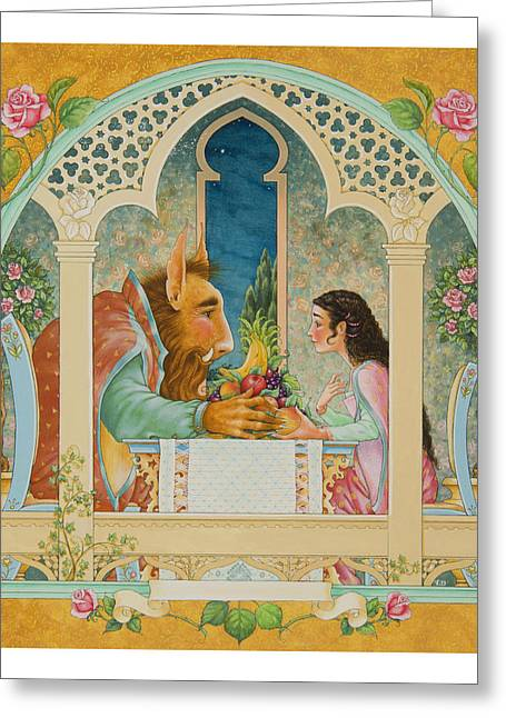 Castle Room Greeting Cards - Beauty and The Beast Greeting Card by Lynn Bywaters