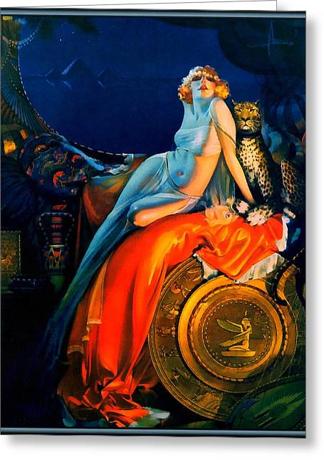 Risque Greeting Cards - Beauty And The Beast Pin Up Greeting Card by Rolf Armstrong
