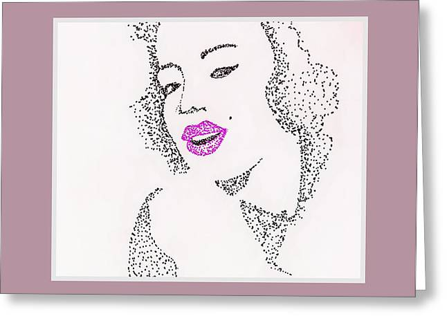 Marlyn Greeting Cards - Beauty Greeting Card by Anne Costello