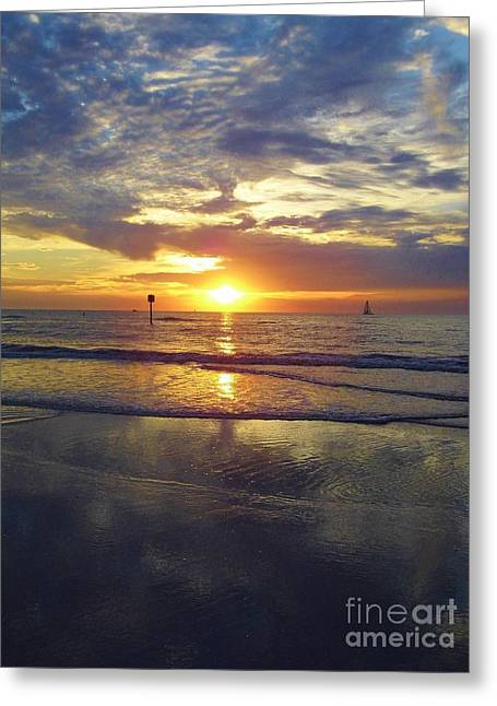 Reflection Of Sun In Clouds Greeting Cards - Beauty At Clearwater Greeting Card by D Hackett