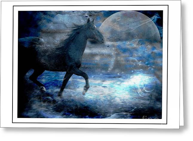 Equine Greeting Cards - Beauty at Midnight Greeting Card by Angela Marks