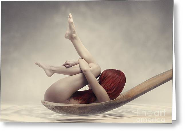 Healthy Greeting Cards - Beauty Bath Greeting Card by Jelena Jovanovic