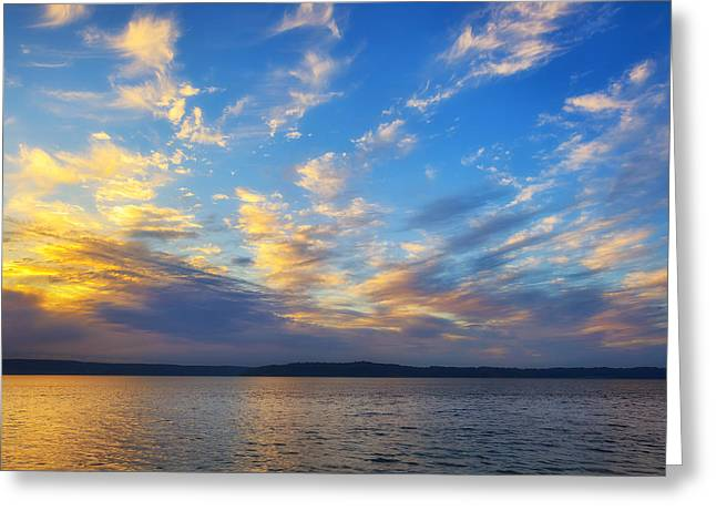 Commencement Bay Greeting Cards - Beauty before the Storm Greeting Card by Ryan Manuel