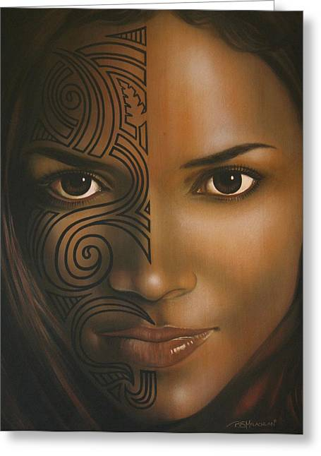 Halle Berry Greeting Cards - Beauty  Greeting Card by Bruce McLachlan
