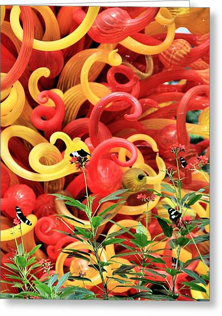 Art Blown Glass Greeting Cards - Beauty Greeting Card by Dan Sproul