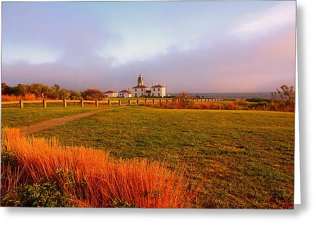 Beauty Emanates- Beavertail Paark Rhode Island Greeting Card by Lourry Legarde
