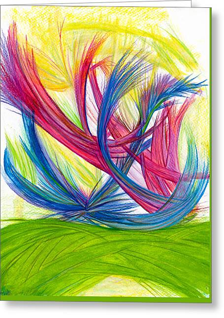 Bright Drawings Greeting Cards - Beauty gives Joy Greeting Card by Kelly K H B