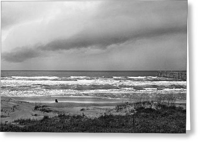 Topsail Island Greeting Cards - Beauty in a Storm Greeting Card by Betsy C  Knapp