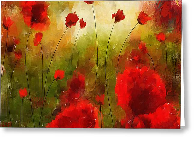Veterans Memorial Paintings Greeting Cards - Beauty In Bloom Greeting Card by Lourry Legarde