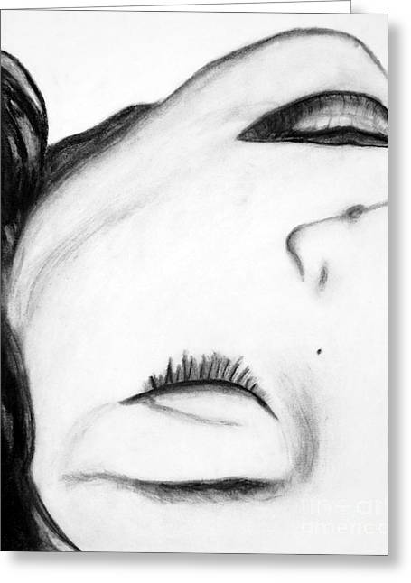 Beauty Mark Greeting Cards - Beauty in Form Greeting Card by Brigitte Cadena