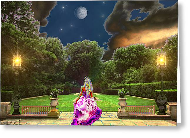 Beauty In The Garden Greeting Card by Michael Rucker