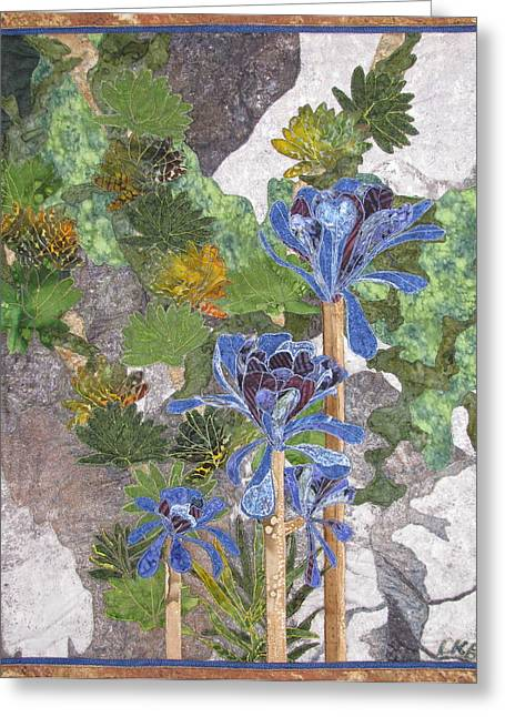 Lynda Boardman Art Tapestries - Textiles Greeting Cards - Beauty in the Rocks Greeting Card by Lynda K Boardman