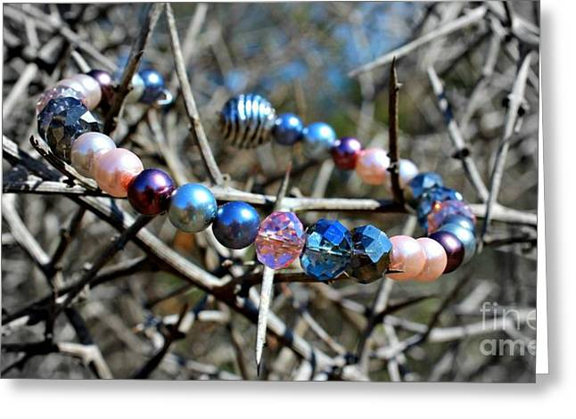 Diamond Bracelet Photographs Greeting Cards - Beauty in the Thorns Greeting Card by Clare Bevan