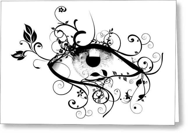 Eyelash Greeting Cards - Beauty is in the Eye of the Beholder Greeting Card by Heather Applegate