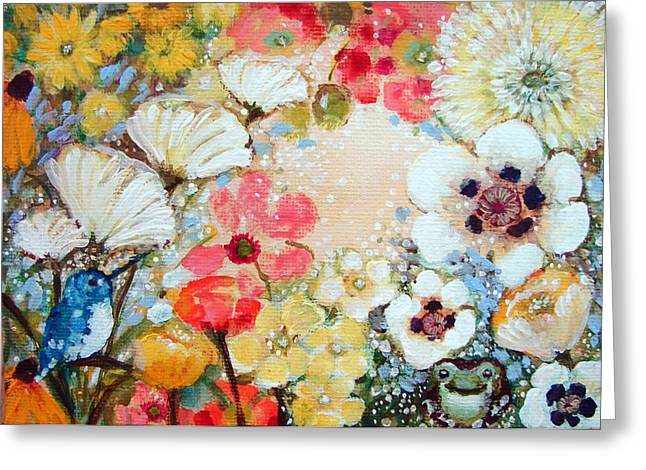 Beauty Lives In Kindness Greeting Card by Ashleigh Dyan Bayer