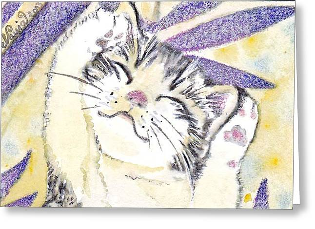 Aceo Original Drawings Greeting Cards - Beauty Greeting Card by Nayia Jones