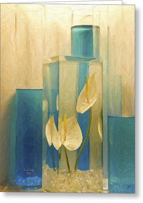 Beauty Of A Calla Lily Greeting Card by Trish Tritz