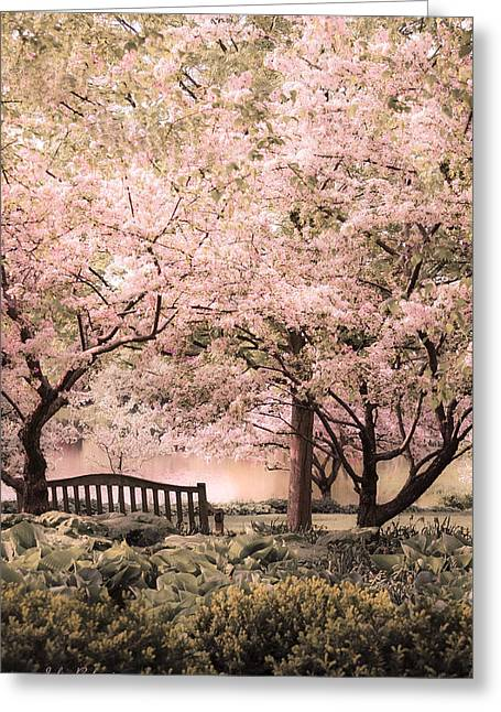 Beauty Of A Spring Garden Greeting Card by Julie Palencia
