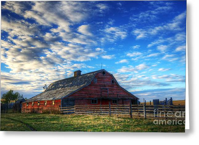 Alberta Landscape Greeting Cards - Beauty of Barns 10 Greeting Card by Bob Christopher