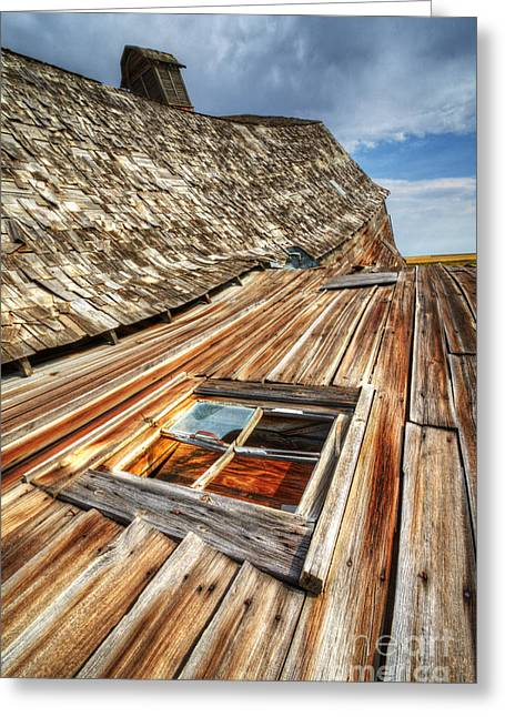 Alberta Landscape Greeting Cards - Beauty Of Barns 6 Greeting Card by Bob Christopher