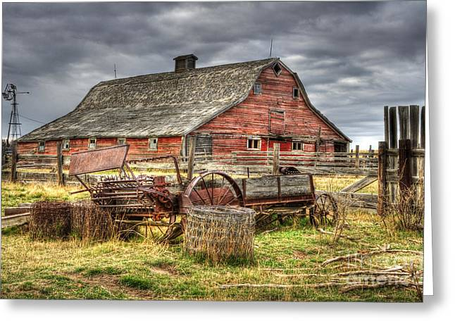 Alberta Landscape Greeting Cards - Beauty of Barns 9 Greeting Card by Bob Christopher