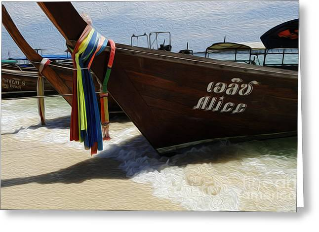 Ocean Scenes Greeting Cards - Beauty Of Boats Thailand 2 Greeting Card by Bob Christopher