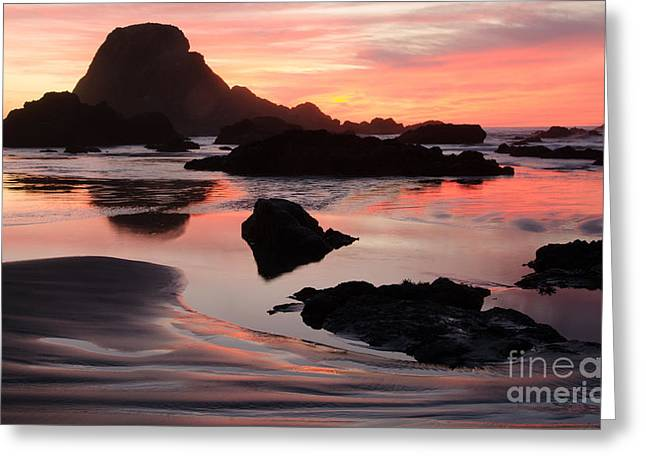 Canadian Photographer Greeting Cards - Beauty Of Oregon Sebastian Beach 1 Greeting Card by Bob Christopher