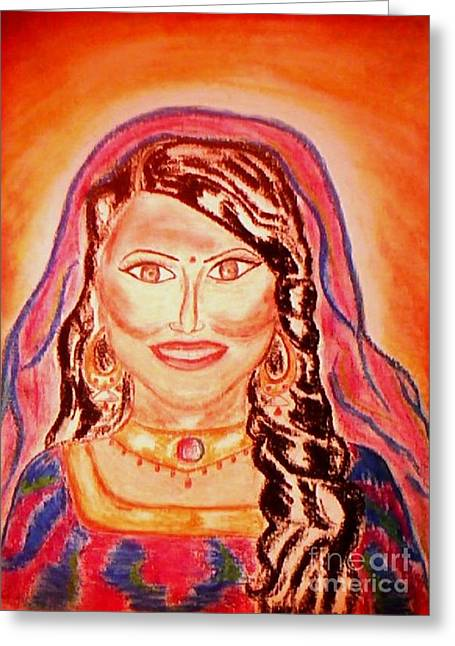 Scarf Pastels Greeting Cards - Beauty of India Greeting Card by Lewanda Laboy