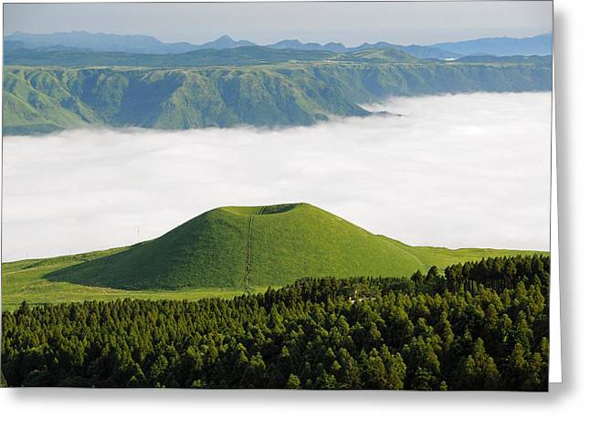 Mound Greeting Cards - Beauty of Kumamoto Greeting Card by Mountain Dreams