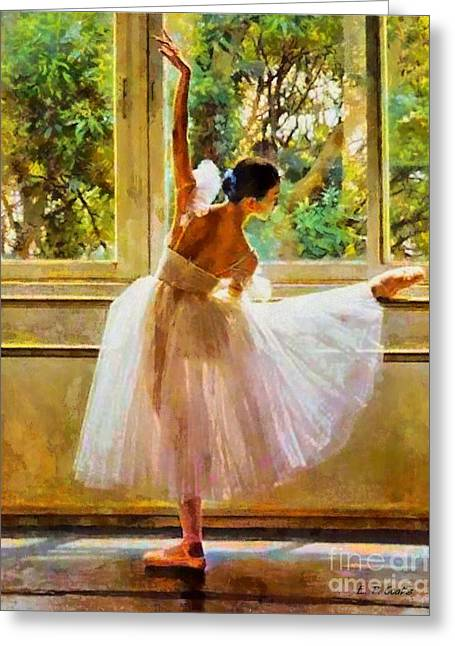 Recently Sold -  - Dancing Girl Greeting Cards - Beauty of Light Greeting Card by Elizabeth Coats